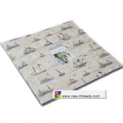 "Ahoy Me Hearties  - Layer Cake by Janet Clare for Moda Fabrics - 42 x 10"" Fabric Squares"
